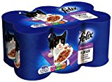 Felix Mixed Selection in Jelly 6 x 400 g (Pack of 4, Total 24 Cans)