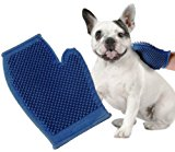 Koller-Craft Pet Buddies Pb5583 Dog And Cat Grooming Glove- One Size Fits All, Rubber, Blue