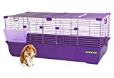 HERITAGE RABBIT CAGE 120 CM EXTRA LARGE INDOOR BUNNY HUTCH GUINEA PIG CAGES WITH FREE HAY RACK