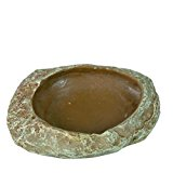 Trixie Reptile Steppe Rock Decoration Water and Food Bowl, 6 x 1.5 x 4.5 cm, Pack of 6