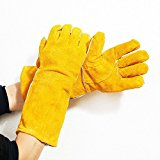Men's Welding Gloves for Gardening work kitchen outdoor working (yellow)