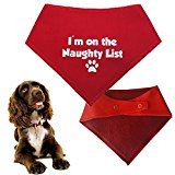 Spoilt Rotten Pets Christmas Dog Bandana - I'm On The Naughty List - Great Xmas Gift For Dogs - Four Sizes Available (Small/Medium Dog 11
