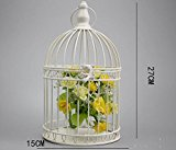 Retro metal Candlestick birdcage dining table Home Wedding decoration Iron Crafts , white