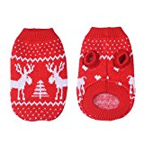 WIDEN ELECTRIC Pet dog Fashion Dress Elk Christmas sweater accessories