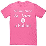 HippoWarehouse All You Need is Love and a Rabbit unisex short sleeve t-shirt