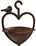 Woodside Vintage Cast Iron Garden Hanging Heart Shape Wild Bird Seed Feeder